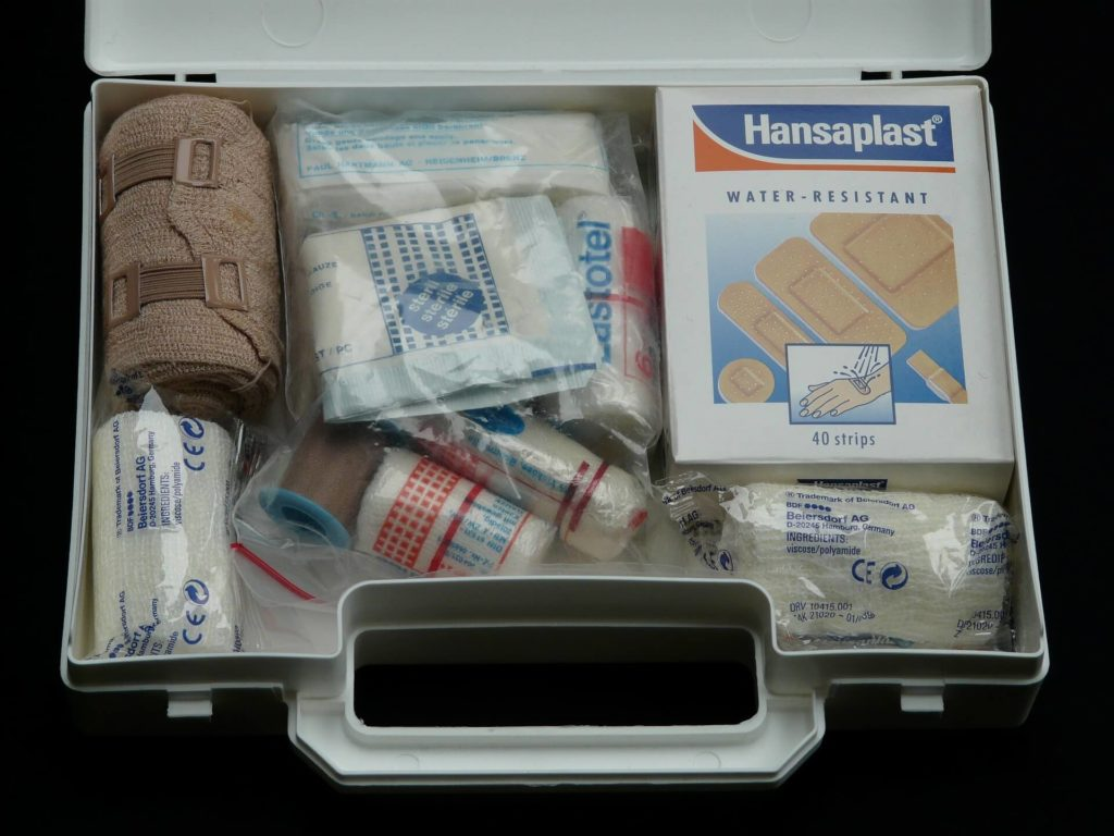 first aid kit bandages