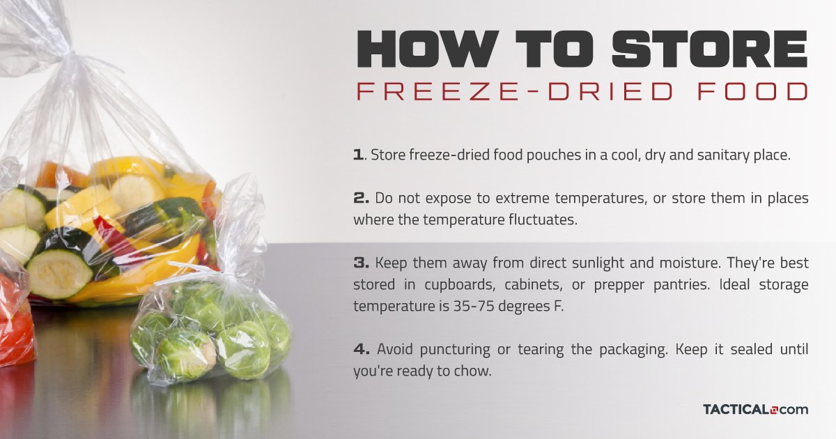 how to store freeze-dried food