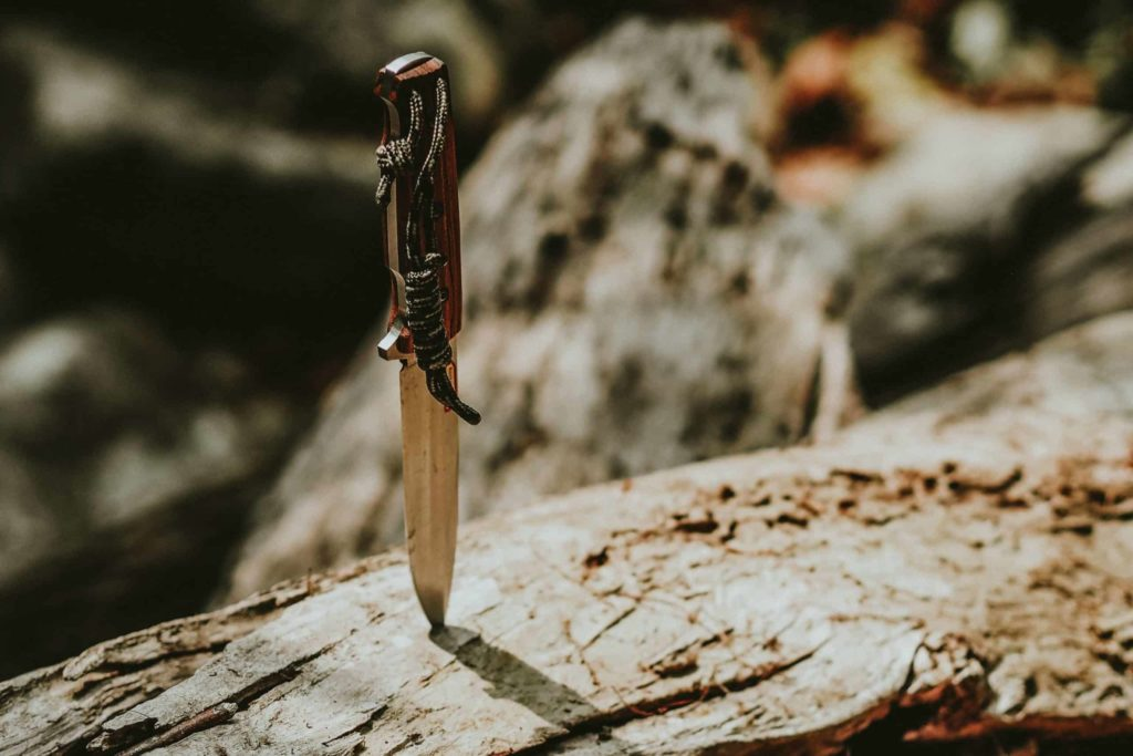 A bushcraft knife